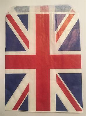 £2.49 • Buy 100 Union Jack Red White & Blue Paper Bags 5 X 7  Sweets Party Bags