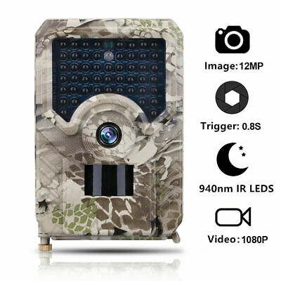 £26.39 • Buy 12MP HD Hunting Trail Camera PIR IR LED Motion Activated Security Wildlife Cam