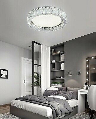 £105.13 • Buy S/M/L/XL K9 Crystal Circular LED Ceiling Flush, Ceiling Light Idea For UHome A++