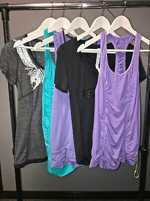 $ CDN100 • Buy Lululemon Lot 4 6 Tank Short Sleeve Wanna Run Silver Bullet Runner Up 5 Piece