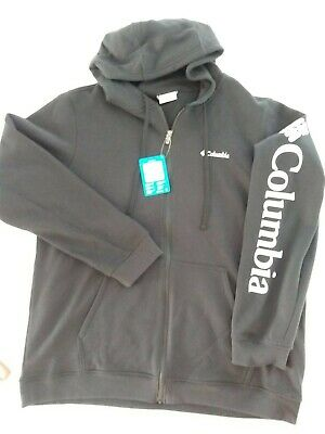 $69.95 • Buy NWT Columbia Black Hooded Sweatshirt XL With Chest And Sleeve Logos $90.00