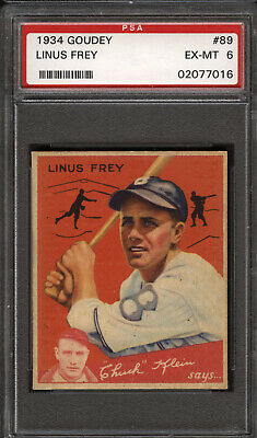 $112.99 • Buy 1934 Goudey # 89 Frey Dodgers Psa 6