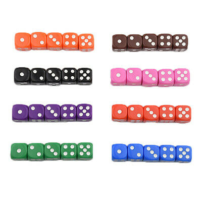 AU22.32 • Buy 100x Dices Translucent 100* Dice Games D6 Six Sided 15MM Learning Math