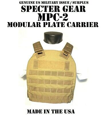 $109.95 • Buy Specter Gear Mpc-2 Coyote Molle Tactical Modular Plate Carrier Usmc Us Military