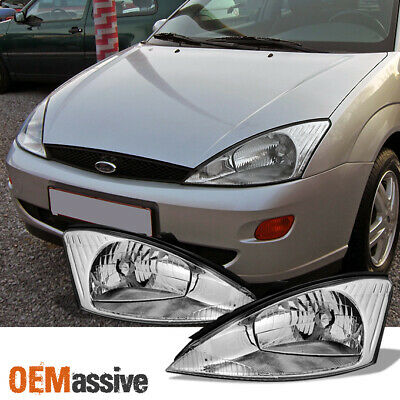 $74.99 • Buy Fit 2000 2001 2002 2003 2004 Ford Focus LH + RH Side Headlights Replacement