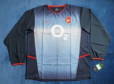 BNWT Arsenal FC Season 2002-2003 Away Player Issue Shirt Long Sleeve XL WOW ! • 149.99£
