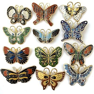 $ CDN160.31 • Buy Full Set Of 12 Vintage Enamel Butterfly Brooches Costume Jewelry Lot