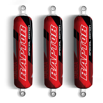 $35.30 • Buy Red Black Yamaha Shock Covers Raptor YFM 250 350 660R *Special Edition* (Set 3)