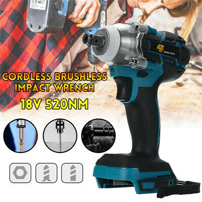 18V 520Nm Cordless Brushless Torque Impact Wrench 1/2  Body For Makita Battery • 36.99£