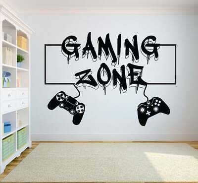Xbox One Ps4 Gamer Gaming Zone Controller Wall Art Vinyl Gift Decal Sticker V668 • 8.95£