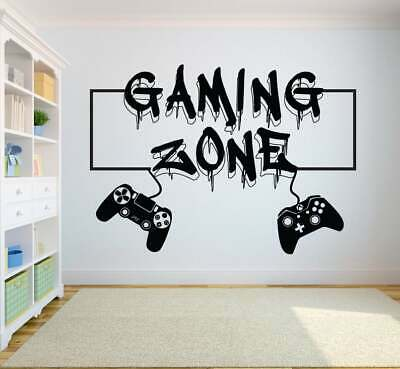 £8.95 • Buy Xbox One Ps4 PS5 SWITCH Gamer Gaming Zone Controller Wall Vinyl Sticker V668