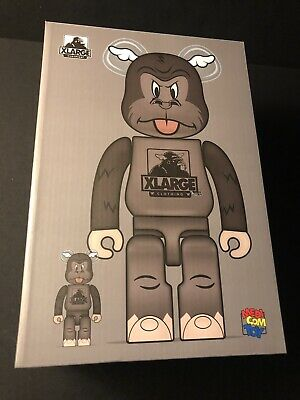 $330 • Buy Xlarge X D Face Brown Medicom BearBrick 400/100 Set Extra Large Signed Gold Rare