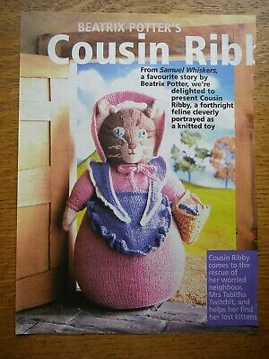 Beatrix Potter Cousin Ribby Toy Knitting Pattern *rare* Alan Dart? • 20£