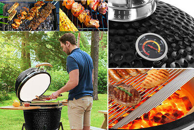Kamado Smoker Bbq Charcoal Barbecue Grill Outdoor Garden Cooking Egg Cooker Oven • 424.95£