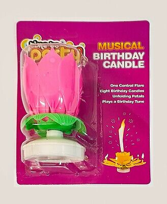 $ CDN6.91 • Buy Pink Musical Lotus Flower Happy Birthday Candle Party Birthday Gift Present