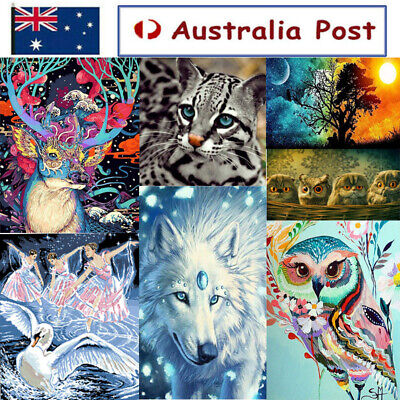 AU13.99 • Buy 5D Diamond Painting Embroidery Cross Craft Stitch Pictures Arts Kit Mural Decor