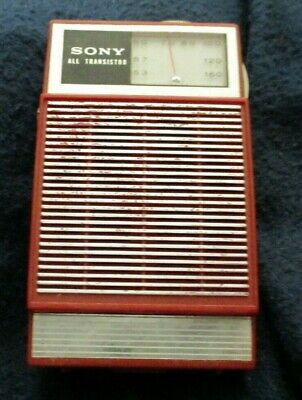 $23 • Buy Vintage Transistor Radio Red Sony 2R-22 , Tested Working