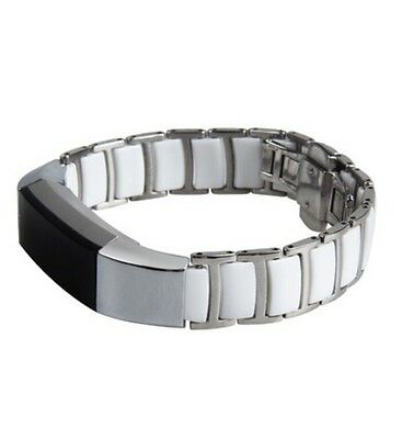 AU15.49 • Buy Fitbit Alta Metal Link Replacement Bracelet Band White Silver