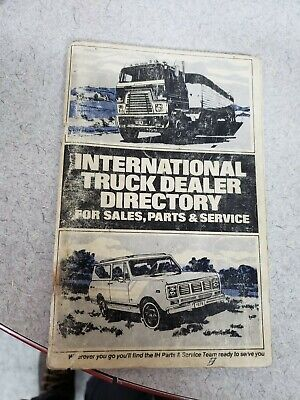 $15.99 • Buy 1976 International Truck Scout Dealer Directory Sales Parts Service Manual Book