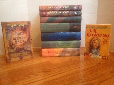 $ CDN102.83 • Buy Lot 9 HARRY POTTER Books Complete 1-7 HBDJ  HB Beedle The Bard + Rowling VGC