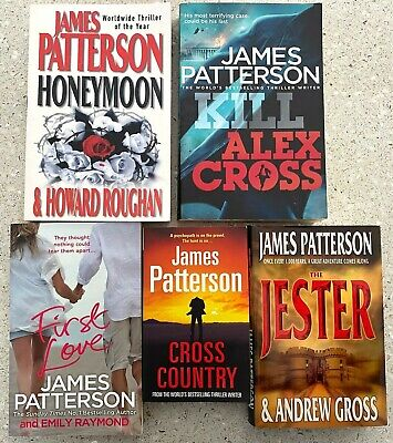 AU34.95 • Buy 5 X JAMES PATTERSON BOOKS Cross Country, Jester, Honeymoon FREE POST Tracked