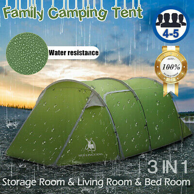 AU102.47 • Buy Waterproof 4-5 Person Family Camping Tent Hiking Camping Outdoor Dome Tunnel ✤AU