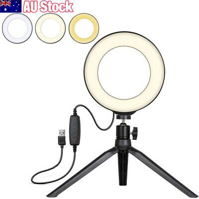AU30.99 • Buy 6'' Phone Selfie LED Ring Light With Stand Tripod For Youtube Tiktok Makeup Live