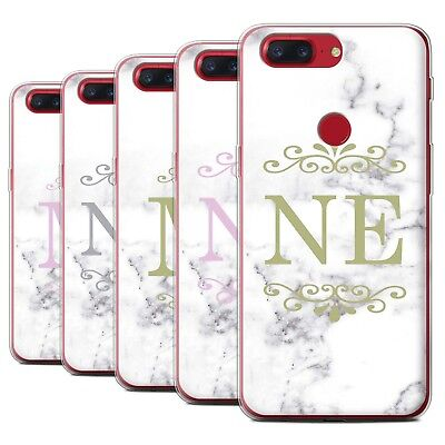 AU13.90 • Buy Personalised White Marble Fashion Case For OnePlus 5T/Initial Gel Cover