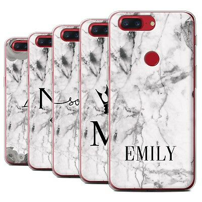 AU13.90 • Buy Personalised Custom White Marble Case For OnePlus 5T/Initial/Name/Text Gel Cover