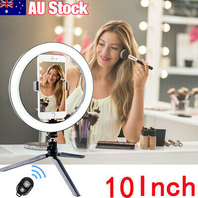 AU49.99 • Buy 10  Phone Selfie LED Ring Light Stand Tripod Dimmable For Makeup Video Youtube