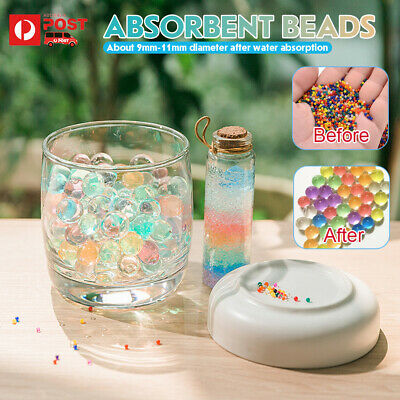 AU20.79 • Buy Orbeez Crystal Soil Water Balls Pearls Jelly Gel Beads Party Decoration 9-11mm