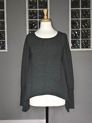 $ CDN61.20 • Buy Lululemon Tea Lounge Pullover 6 Heathered Coal Asymmetric Long Sleeve Terry