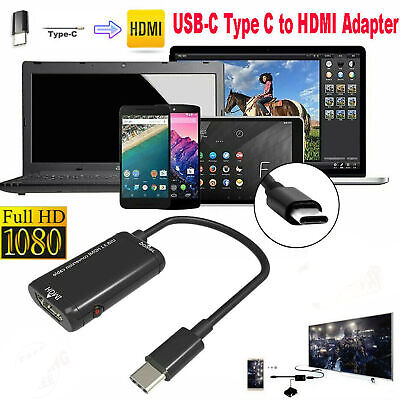 $ CDN10.65 • Buy Hot USB-C Type C To HDMI Adapter USB 3.1 TV Cable For MHL Android Phone Tablets