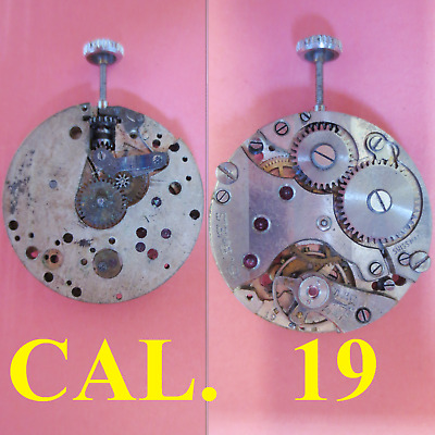 $ CDN22.84 • Buy Movimento Cal 19 2 9 Diametro 23,5 M Movement Manual Old Watch For Parts Vintage