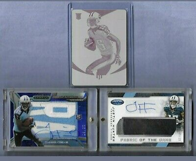 $17.70 • Buy Justin Hunter 3 Card Lot Rookie Printing Plate 1/1 & Auto Jersey 9/10 & 12/50