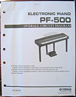 AU56.59 • Buy Yamaha PF-500 Digital Electronic Piano Original Overall Circuit Diagram Sheets
