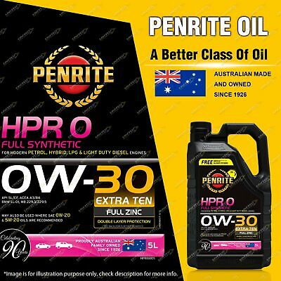 AU89.95 • Buy Penrite Full Synthetic HPR 0 SAE 0W-30 Engine Oil Premium Quality 5L