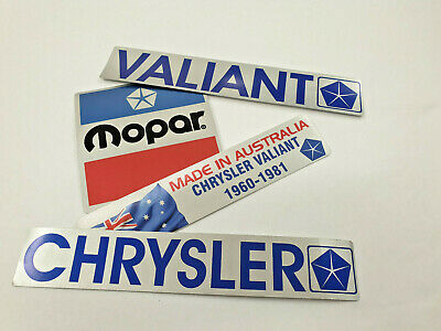 AU3.45 • Buy Chrysler Valiant Mopar Dodge  SILVER SERIES  Set Of 4 Decal On Metallic Silver
