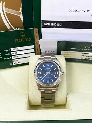$ CDN6481.26 • Buy Rolex Air King 114210 Blue Dial Stainless Steel Box Papers 2007