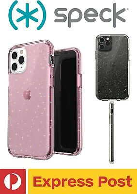 AU64.90 • Buy IPhone 11 Pro SPECK Presidio Clear + Glitter ShockProof Protection Slim Case