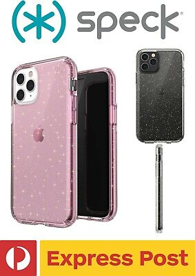 AU64.95 • Buy IPhone 11 Pro Max SPECK Presidio Clear + Glitter ShockProof Protection Slim Case