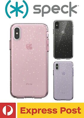AU64.90 • Buy IPhone XS Max SPECK Presidio Clear + Glitter ShockProof Protection Slim Case