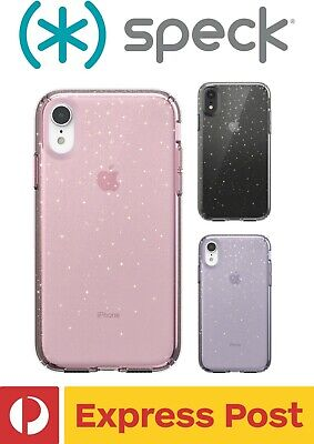 AU64.90 • Buy IPhone XR SPECK Presidio Clear + Glitter ShockProof Protection Slim Case