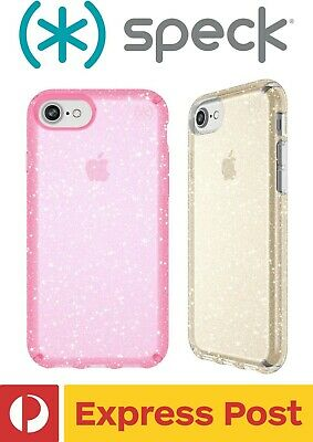AU64.90 • Buy IPhone 7/ 8 SPECK Presidio Clear + Glitter Drop Protection ShockProof Slim Case