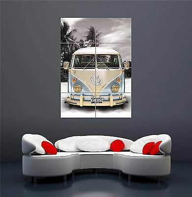 £13.45 • Buy California Camper Vw Bus Van Car New Giant Wall Art Print Picture Poster Oz166