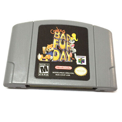 $ CDN27.24 • Buy US Version Conkers Bad Fur Day Game Cartridge Console Card For Nintendo 64 N64