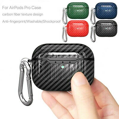 AU7.49 • Buy For Apple AirPods Pro Carbon Fibre TPU Shockproof Wireless Charging Case Cover