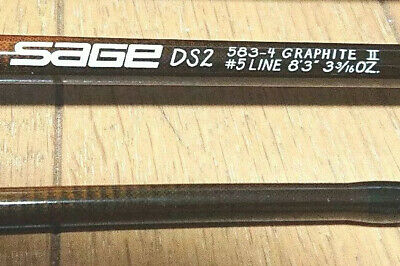 $530 • Buy SAGE DS2 583-4 GRAPHITE Ⅱ #5 LINE 8'3  4Piece Fly Rod Fishing With Case