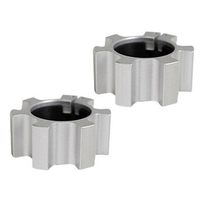 $ CDN26.68 • Buy 2pcs 2'' Barbell Clamps 50mm Olympic Spin Lock Locking Clip Hardware Silver