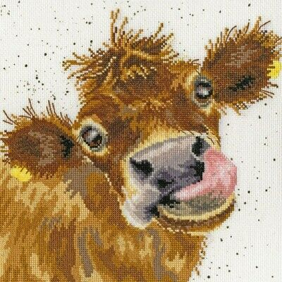 $ CDN12.75 • Buy 5D DIY Diamond Painting Cow Sticking Out Tongue Embroidery Kits Art Decor Mural